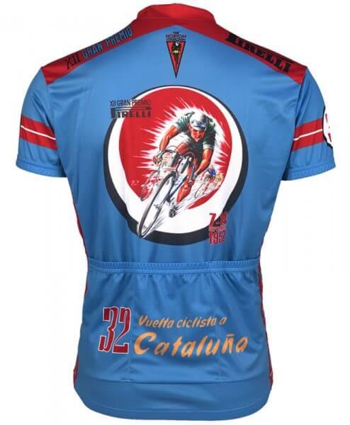 Retro Cycling Jersey - 1952 Vuelta Cataluna by Retro Image Apparel-rear