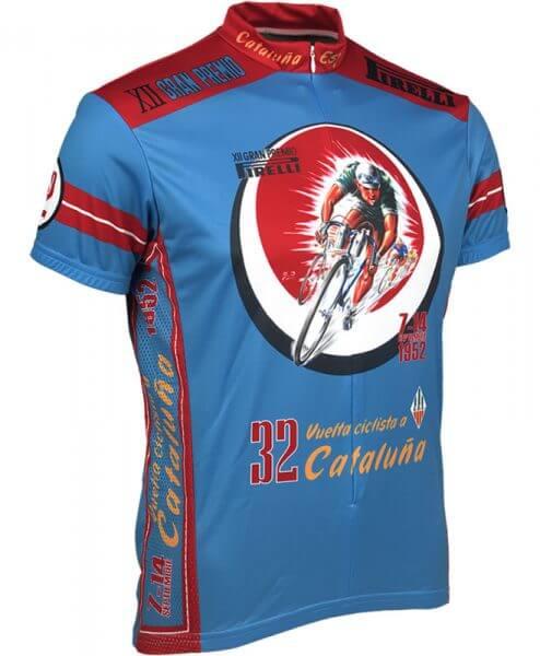 Retro Cycling Jersey - 1952 Vuelta Cataluna by Retro Image Apparel
