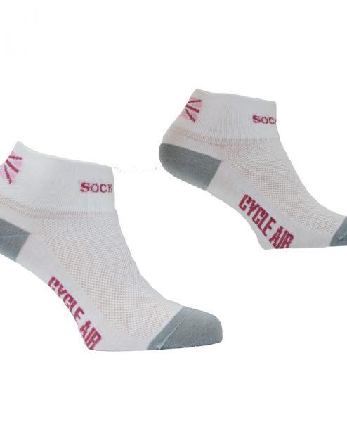 sock mine cycle air coolmax womens white socks