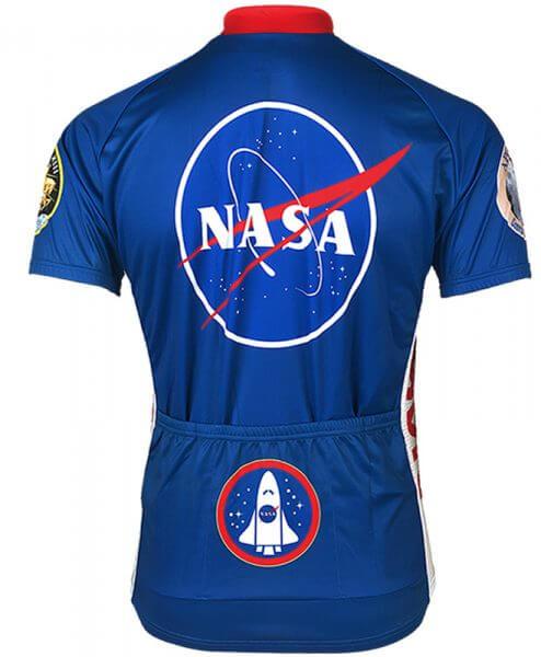 Retro Cycling Jersey Mens - NASA - Retro Image Apparel - back