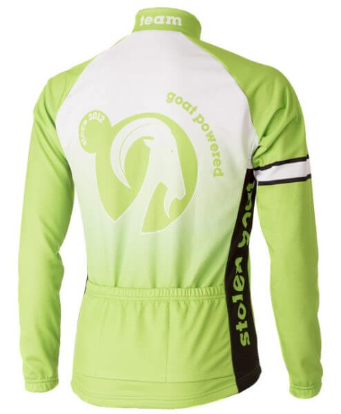 Team Green long sleeve Cycling Jersey - stolen goat back