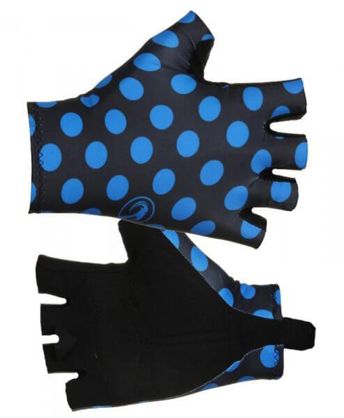cycling gloves polka dot blue