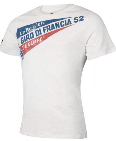 tour de france 1952 cycling t-shirt mens white side