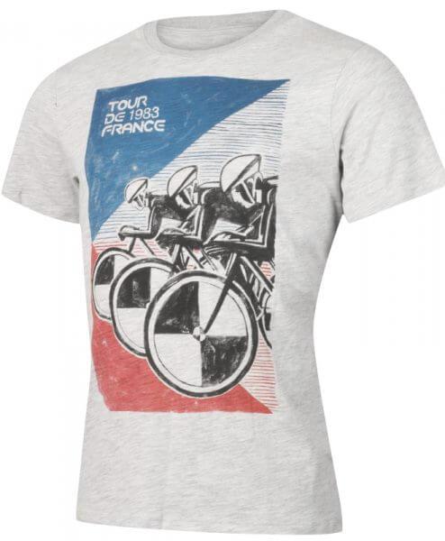 tour de france 1983 cycling t-shirt mens grey side