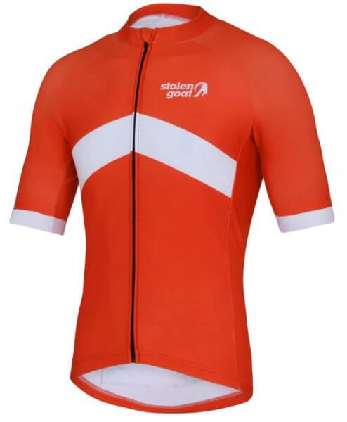 orkaan everyday waterproof cycling jersey ss orange