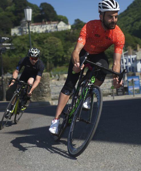 stolen goat orange cycling jersey mens intergalactic