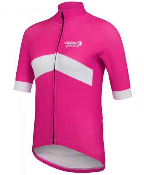 orkaan everyday waterproof cycling jersey ss ladies pink front