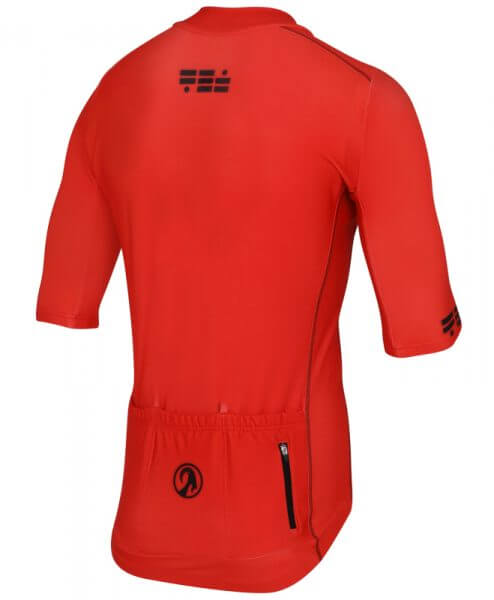 orkaan race tech waterproof cycling jerseys mens red back