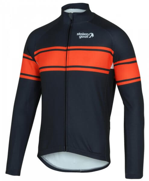 mens long sleeve thermal cycling jersey grimpeur stolen goat front