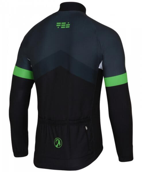 mens long sleeve thermal cycling jersey soloist back