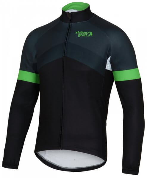 mens long sleeve thermal cycling jersey soloist front